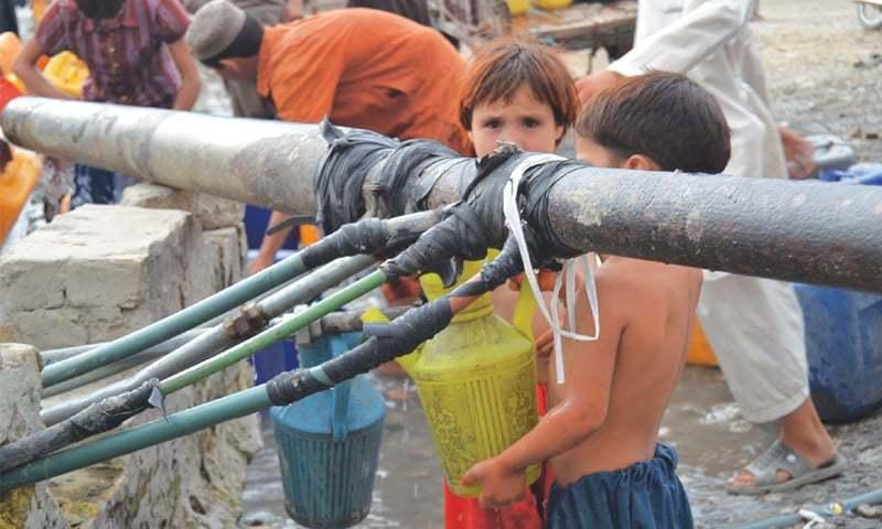 पाकिस्तानमा पानीको संकट बढ्दो