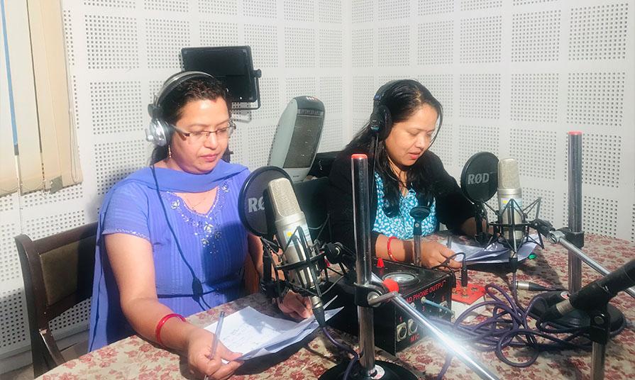 Radio Sagarmatha centered on COVID-19 issues